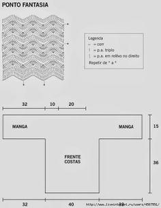 Crochetemoda: Revista Manequim - Blusa de Crochet