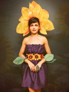 Sunflower Women's Halloween Costume yellow by HypnozoDesign, $168.00