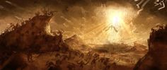 The Heavenly Host. Illustration from the Diablo video game series by Blizzard Entertainment