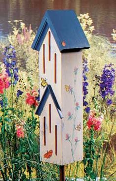 Butterfly House Here's a real conversation piece for your garden. In fact, your friends will be full of questions about this whimsical butterfly house and how to make their own. More