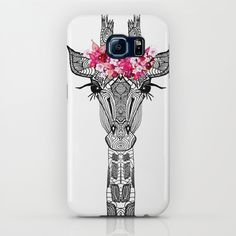 FLOWER GIRL iPhone & iPod Case by Monika Strigel | Society6 $35  #giraffe #flowergirl #illustration #cute #pink #bw #blackwhite #phonecase #samsungcase #androidcase #android #cute #monikastrigel #s4 #s5 #s6