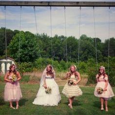 Vintage prom dresses = adorable bridesmaids dresses!