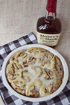 Whiskey cinnamon rolls-made these!! Very yummy! Especially if you add some coffee to the glaze