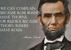 Words from Abraham Lincoln. #optimism