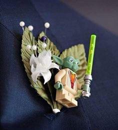 Quirky you are!  Star Wars buttonhole    #youandyourwedding