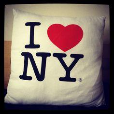 Homemade I heart New York Cushion