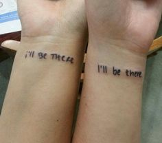 ▷ 1001 + ideas for best friend tattoos to celebrate your friendship with ▷ 1001 + ideas for best friend tattoos to celebrate your friendship with,Tatoo i'll be there, friends inspired, wrist tattoos, best. Wrist Tattoos, Mini Tattoos, Trendy Tattoos, Unique Tattoos, New Tattoos, Cool Tattoos, Unique Friendship Tattoos, Tatoos, Awesome Tattoos