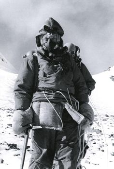 Everest1953: Picture of Tom Bourdillon(1924-1956) UK. Cho Oyu(1952). British Everest expeditions (1951,1952 & 1953). South Summit of Everest (1953). Died on the Jagihorn