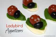 Just how cute are these Ladybird Appetizers? They make great party food for a kids party. Maybe a bug party or garden party. And also an healthy option. Rice Krispie Treats, Rice Krispies, Ladybug Appetizers, Ladybug Pretzels, Ladybug Invitations, Babybel Cheese, Creative Party Ideas, Recipe Link, Healthy Options