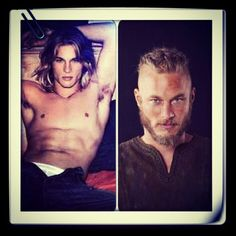 Travis/Ragnar Vikings  i mean really ladies... watch this series.    if you're into this kind of thing.  hot beared men fighting...