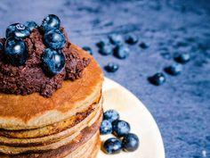 Sunde bananpandekager Waffles, Pancakes, Nutella, Tiramisu, Brunch, Paleo, Food And Drink, Snacks, Breakfast