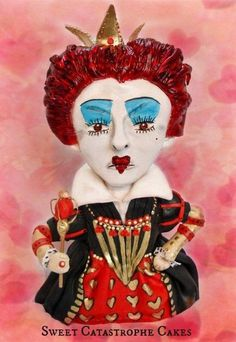 Queen of hearts (Red Queen)  Cake by Sweet Catastrophe Cakes