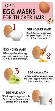 4 EGG MASKS FOR THICKER HAIR - The Natural DIY