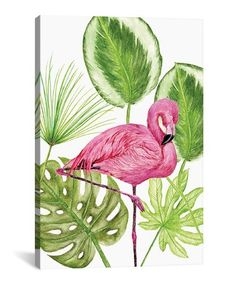 Look at this #zulilyfind! Melissa Wang 'Tropical Flamingo II' Wrapped Canvas #zulilyfinds