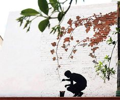 Spanish artist Pejac is expert in creating elegant outdoor murals as well as acrylic on indoor window, and pencil and watercolor on paper. His street art are often meaningful figures, flying birds rendered in silhouette or fine lines that make people wow for his pieces.