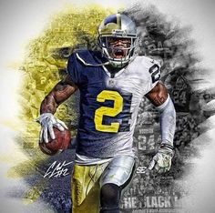 A Great and A Future Hall Of Famer - Charles Woodson! U Of M Football, Detroit Football, Oakland Raiders Football, College Football Teams, Football Helmets, Pittsburgh Steelers, Michigan Athletics, Michigan Wolverines Football, Steelers And Browns