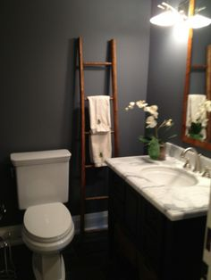 Meredith Heron Design  Muskoka Powder Room
