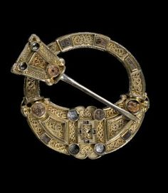 Hunterston Brooch, an early Christian brooch with panels of gold filigree in Celtic and Anglo-Saxon styles, from Ireland or the West of Scotland, c. 700 AD