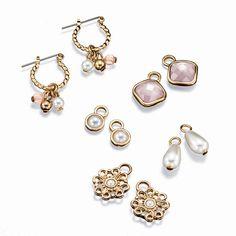 Interchangeable Earrings Set. Avon Outlet Campaigns 15/16. www.deannasbeautyshop.com #avon #outlet #earrings