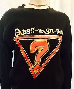 Retro Guess  ? USA  Made Marciano Crew neck Sweatshirt  Vintage Urban Pullov  | eBay
