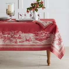 Winter Village Jacquard Tablecloth #williamssonoma