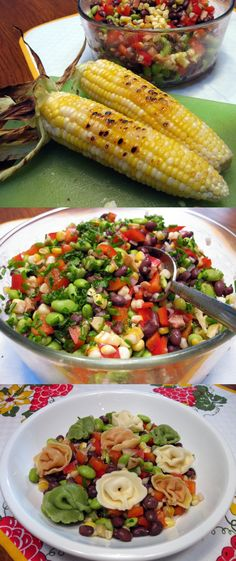 Grilled Corn and Edamame Salad