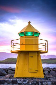 Harbor Lighthouse, Reykjavik, Iceland