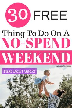 Do you have a long weekend ahead with no money in site? Try having a no-spend weekend! Check out this list of 30 free things to do that don't require money. No Spend Challenge, Money Saving Challenge, Living On A Budget, Frugal Living Tips, Best Money Saving Tips, Saving Money, Money Tips, Money Envelope System, Free Activities