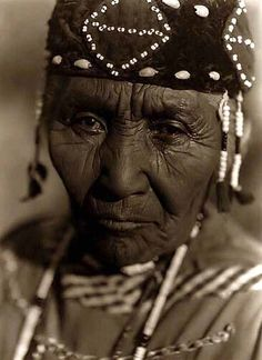 """Above we show a remarkable photo of called """"Wife of Modoc Henry"""". It was made in 1923 by Edward S. Curtis."""