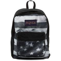 JANSPORT Superbreak Backpack ($36) ❤ liked on Polyvore featuring bags, backpacks, black tona, handle bag, polyester backpack, jansport, rucksack bag and backpacks bags