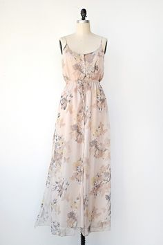 VINTAGE INSPIRED PINK BUTTERFLY MAXI DRESS | Mademoiselle Papillon Dress