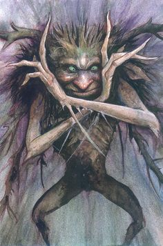 A Hobyah- The Faeries Oracle - by Brian Froud & Jessica MacBeth Brian Froud, Woodland Creatures, Magical Creatures, Fantasy Creatures, Duende Real, The Dark Crystal, Fantastic Art, Awesome Art, Fairy Tales