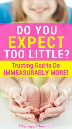 Do you expect too little of the Lord? Learn how to trust him to do immeasurably more! Walk By Faith, Faith In God, Bible Verses For Women, Biblical Verses, Waiting On God, Spiritual Disciplines, Sisters In Christ, Christian Encouragement, Christian Parenting