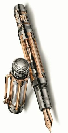 Steampunk much? :D  Not sure why this is a tribute to Hannibal, but it IS expensive! Montblanc is releasing a one-of-a-kind diamond pen with singular features, paying tribute to Hannibal Barca.