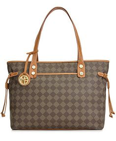 Marc Fisher Check Mate Large Tote. Would be perfect to keep my books in for school! I like this color and the gray/whitish color!