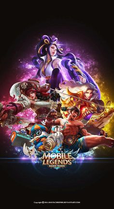 Heroes in the wallpaper is the hero who has entered the original server on the patch version -Humans will be regarded as human beings if th. Wallpaper Desktop/PC Mobile Legend HD All Hero Wallpaper Mobile Legends, Handy Wallpaper, Wallpaper Free, Hero Wallpaper, Mobile Wallpaper, Wallpaper Qoutes, Bruno Mobile Legends, Miya Mobile Legends, Iphone Wallpapers