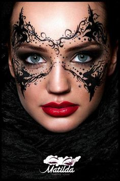 Via Make-Up Magazine Romania | Makeup Mask #masquerade #mua #art. Rebecca this is what I was talking about.