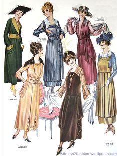 November fashions from Butterick, Delineator magazine, Nov. 1917, p. 84.