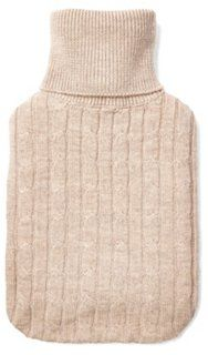 This hot water bottle with a cable-knit oatmeal cover would make the perfect holiday gift (for yourself!).