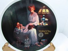 "Vintage Collectible Norman Rockwell's Evening Prayers Plate 8.5"" x 8.5"""
