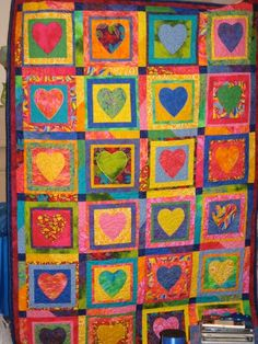 My 2nd Heart Quilt - via @Craftsy