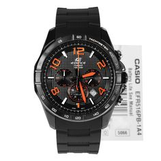 Casio Edifice Chronograph Mens Watch EFR-516PB-1A4VCF EFR-516PB-1A4 has water resistant 100m. Suitable as a sports watch as well as a timepiece to match your wardrobe. Good as gift. Best buy online.