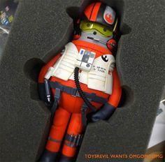 TOYSREVIL: #StarWars inspired X-Wing Fighter Pilot custom by Sticky Monster Lab