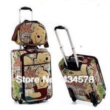 d5bdc8225d5b Whole sale women and men cartoon travel bag sets with wheels