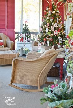 A Cottage Garden Christmas Porch - Cottage at the Crossroads