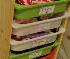 The IKEA TROFAST system is great for organizing all kinds of toys - and labels are a big help at clean-up time!