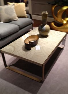 """Geode pattern """"Temple"""" cocktail table by Barbara Barry for Baker - Interior Design Trends #nature #geode #HPmkt #StyleSpotters http://www.bakerfurniture.com"""