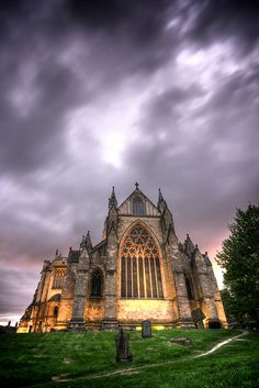 Ripon Cathedral in Ripon, North Yorkshire, England.  I will most definitely pay this a visit someday.