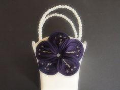 Flower Girl Basket Wedding White or Ivory 70 flower colors available & 2 basket colors by ArtisanFeltStudio, $27.00