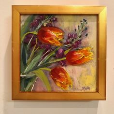 Tulips, oil on board, floral painting, Tulips, Paintings, Oil, Board, Floral, Paint, Painting Art, Florals, Tulip
